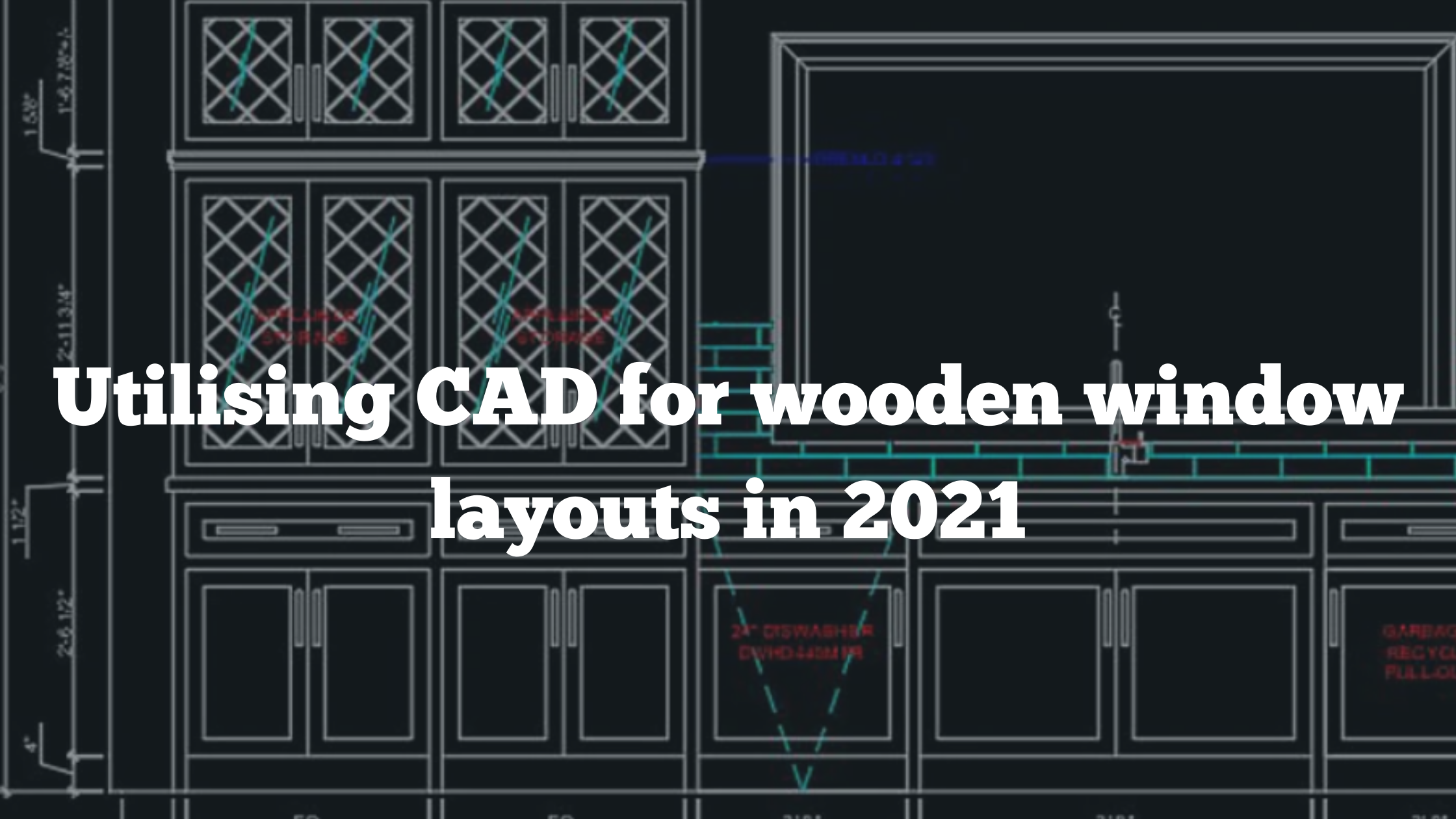 How to use CAD to draw wooden frames